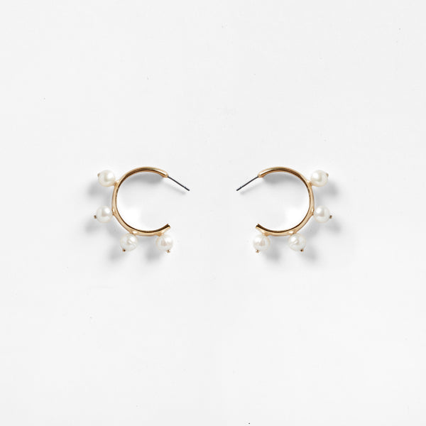 Garland Hoop Earrings | Pearl