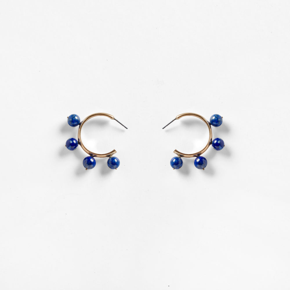 Garland Hoop Earrings Sodalite