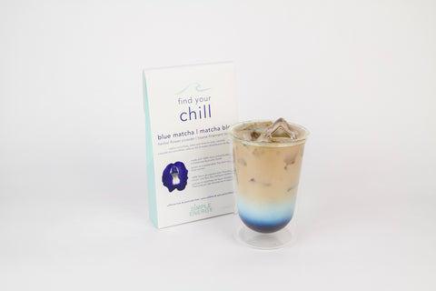 Blue Matcha - Iced Smoothie.  Ayurvedic drink