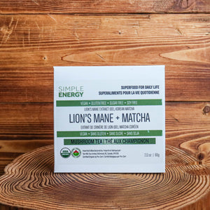SIMPLE ENERGY | Matcha + Lion's Mane (Organic)