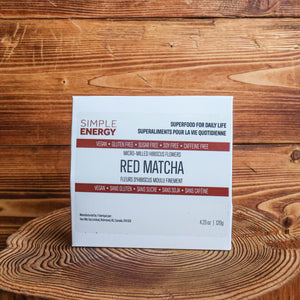 SIMPLE ENERGY | Red Matcha - micro-milled hibiscus