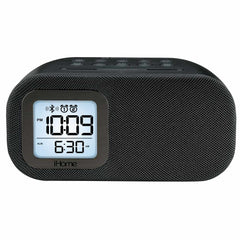 iHome Bluetooth Alarm Clock Radio with USB Charging Black
