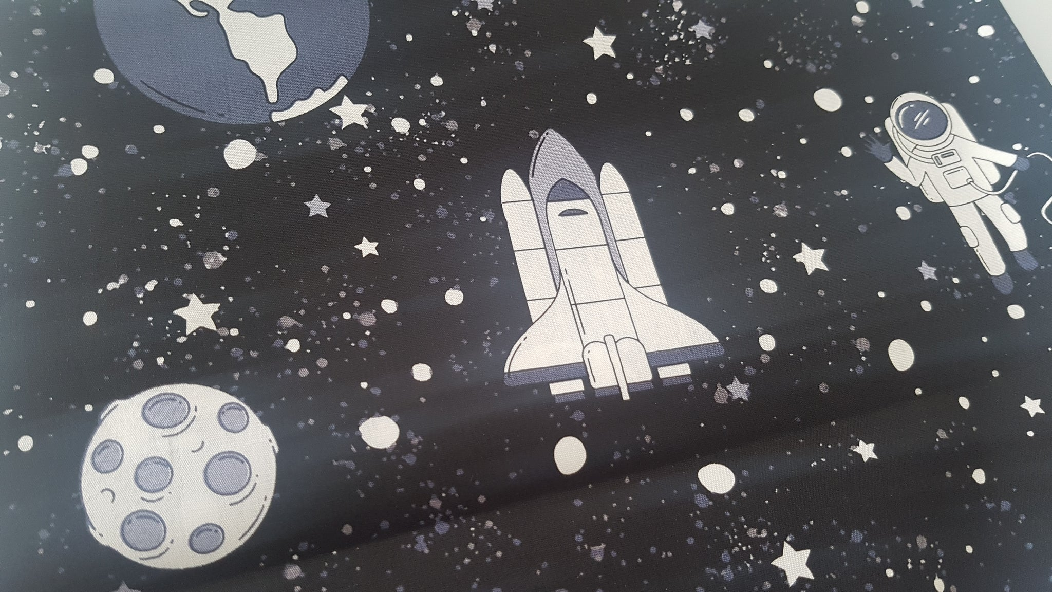 Space Print - Beeswax Foodwraps - Sandwich Size - 2 Pack