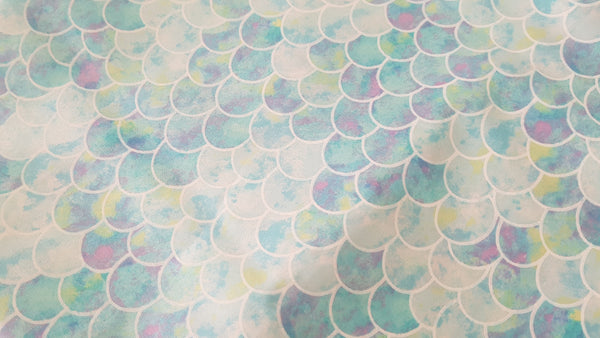 Mermaid Scales (Pastel) Print - Beeswax Foodwraps - Large Size - 2 Pack