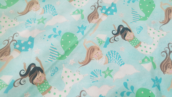 Mermaids - Print - Beeswax Foodwraps - Sandwich Size - 2 Pack