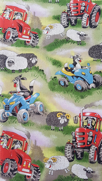 Sheep Farming Print - Beeswax Foodwraps - Sandwich Size - 2 Pack