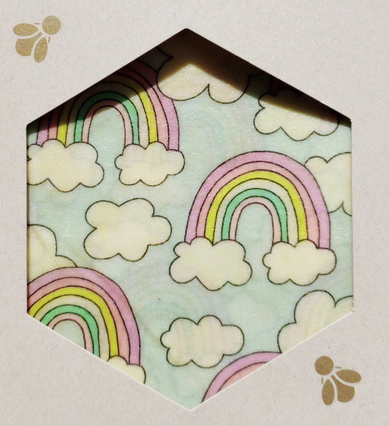 Rainbows Beeswax Foodwraps - Sandwich Size - 2 Pack