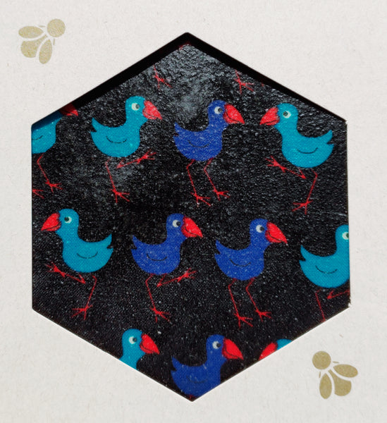 Pukeko Print - Beeswax Foodwraps - Sandwich Size - 2 Pack
