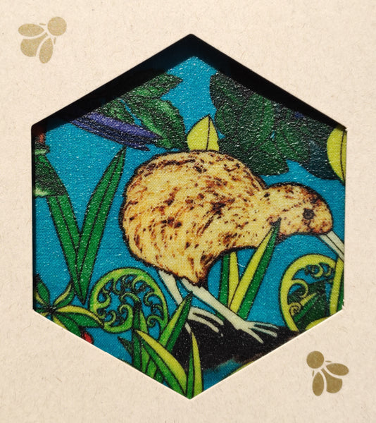 NZ Native Print - Beeswax Foodwraps - Sandwich Size - 2 Pack