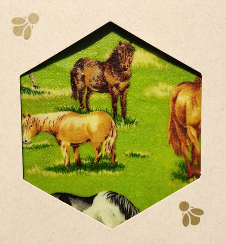 Horses Beeswax Foodwraps - Sandwich Size - 2 Pack