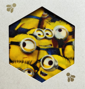 Minion Print - Beeswax Foodwraps - Sandwich Size - 2 Pack
