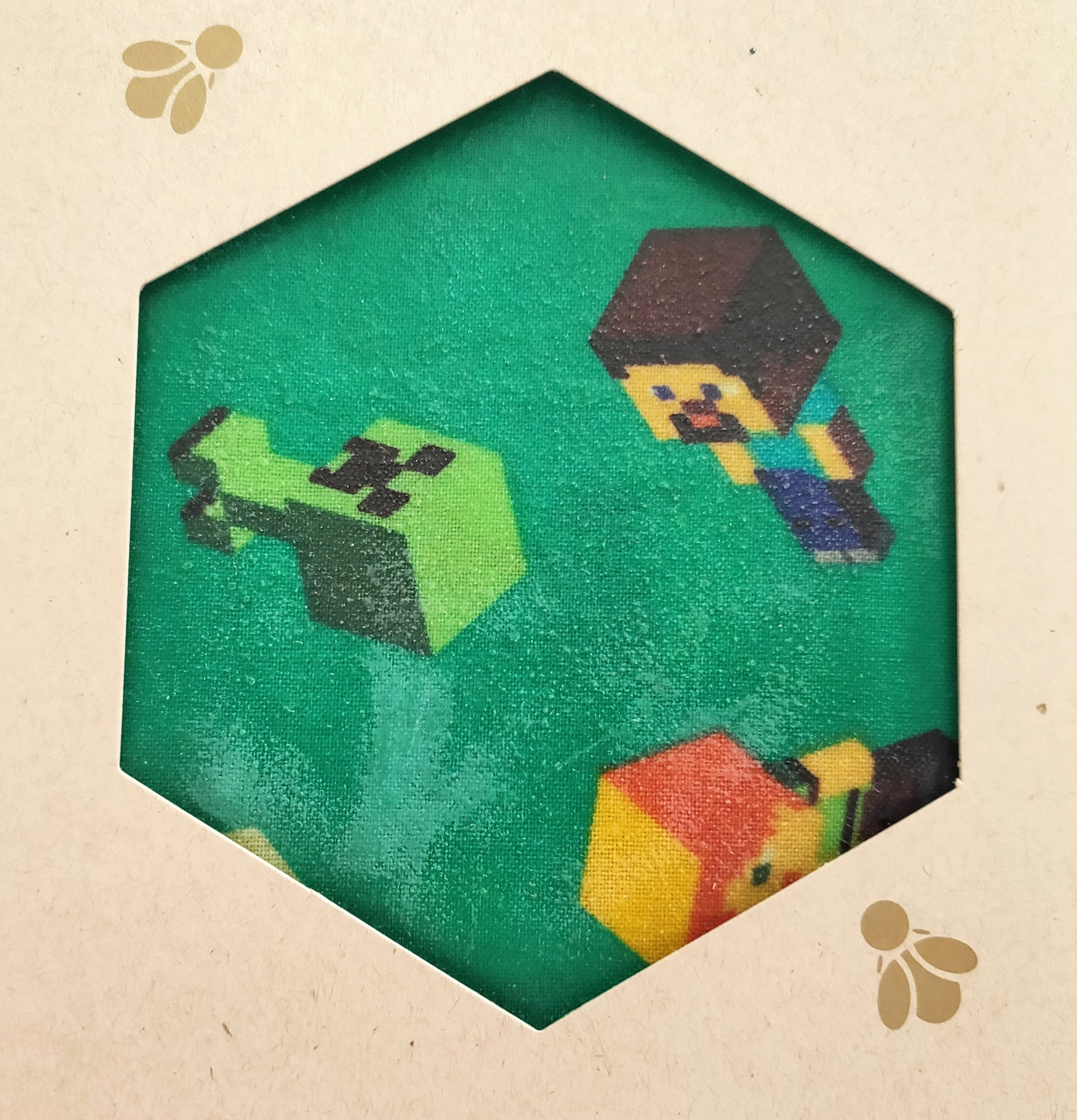 Minecraft - Beeswax Foodwraps - Sandwich Size - 2 Pack