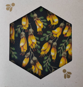 Kowhai -  Beeswax Foodwraps - Large Size - 2 Pack