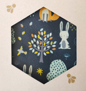 Woodlands Print -  Beeswax Foodwraps - Sandwich Size - 2 Pack