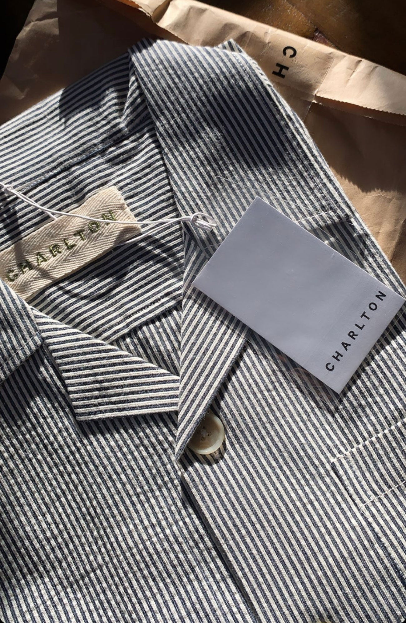 Japanese Blue Stripe Shirt.