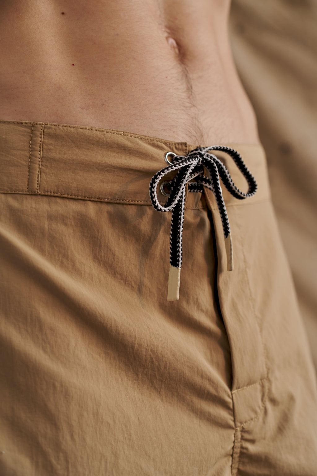 Tan Nylon Swim Short