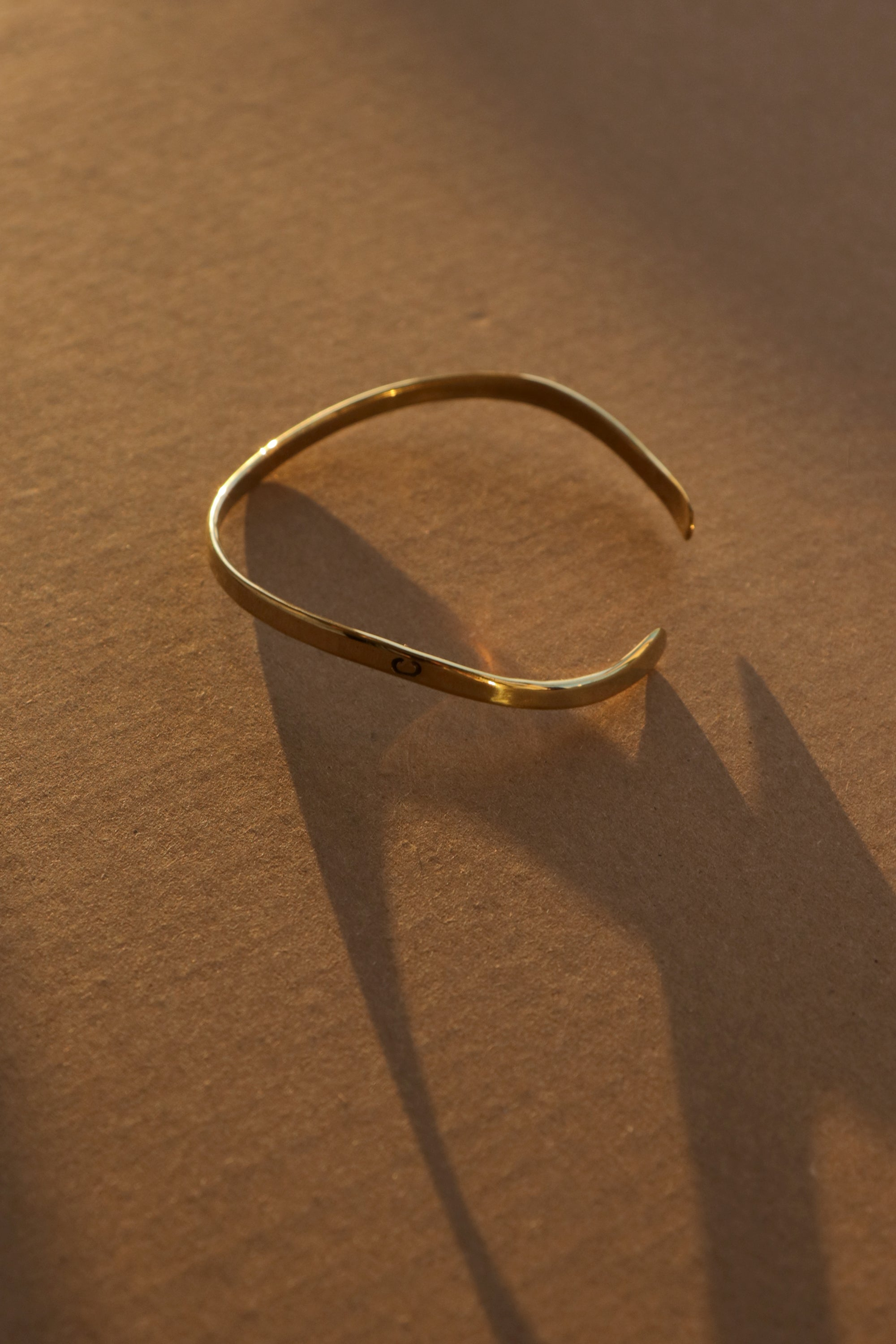 Charlton Brass 'Wave' Bangle