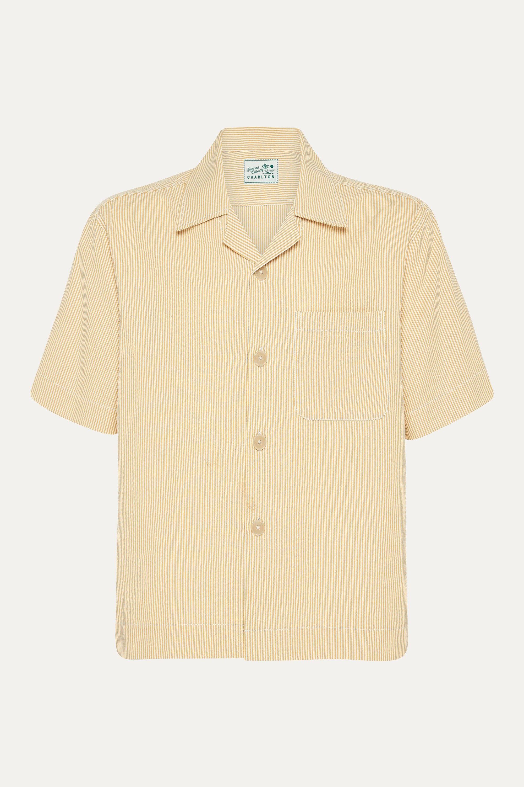Japanese Yellow Stripe Shirt