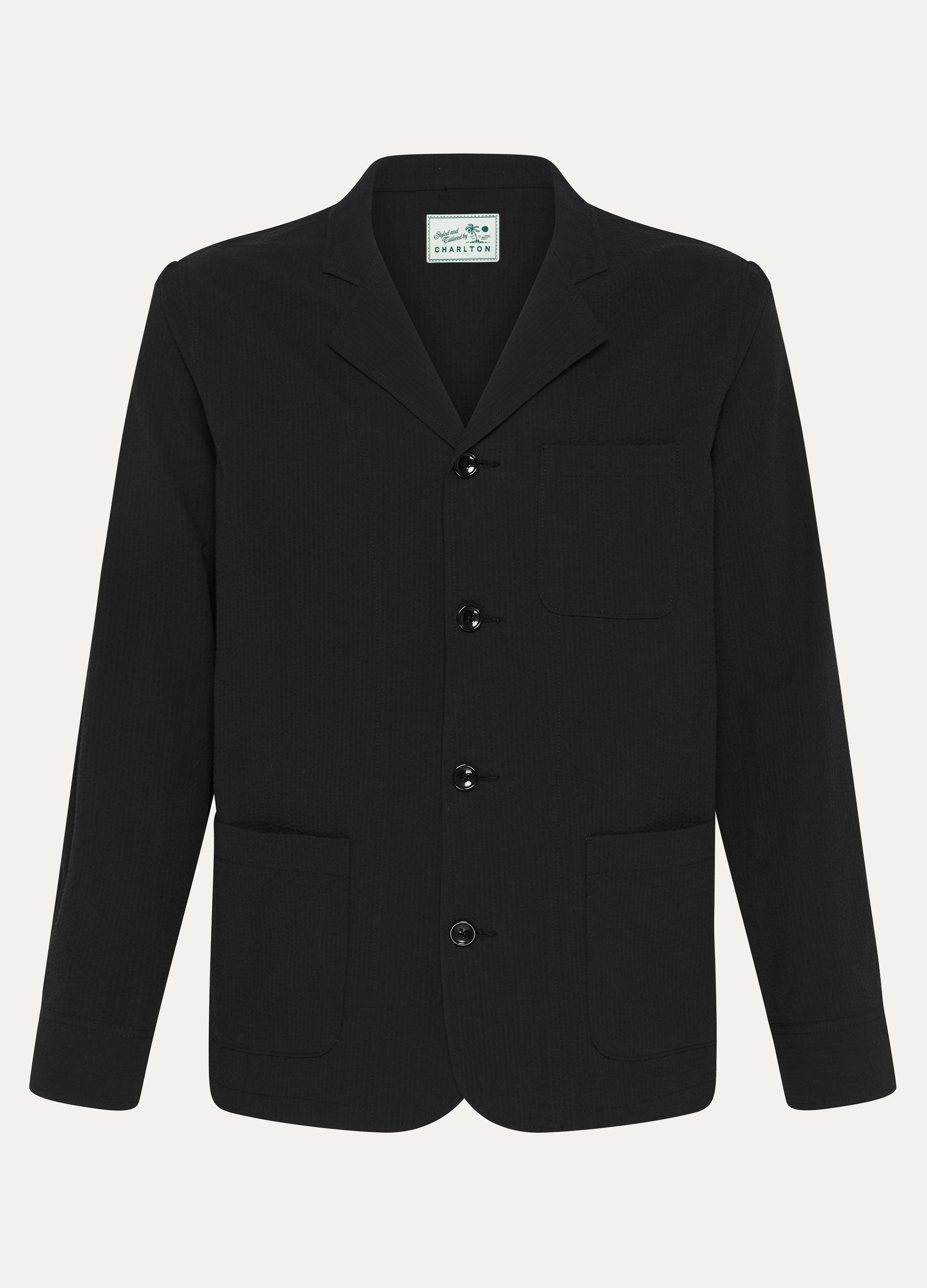 Deconstructed Seersucker Suit Jacket