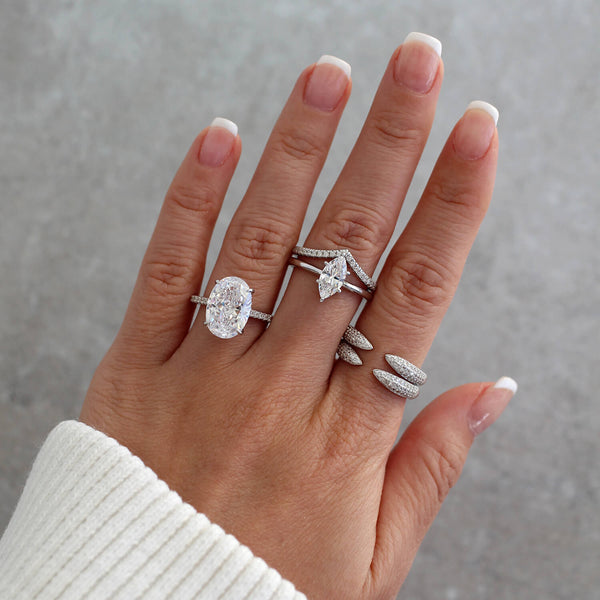Marquise Set (2 pcs) - 925 Sterling Silver
