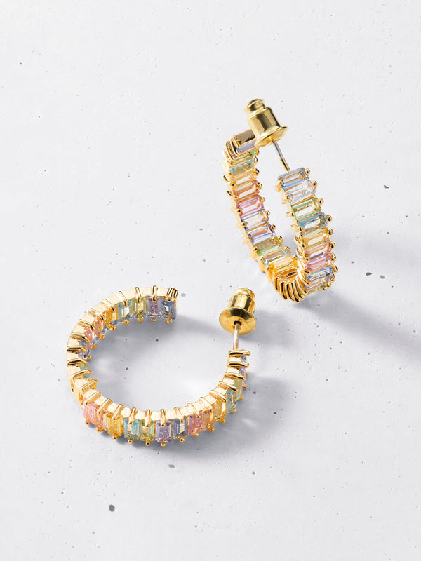 Adaya Pastel Hoop Earrings