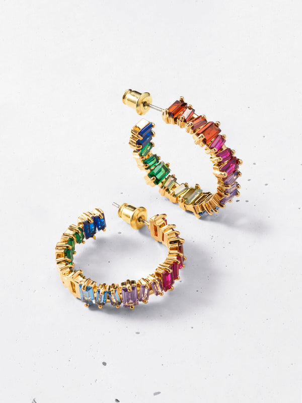 Lumen Rainbow Hoop Earrings