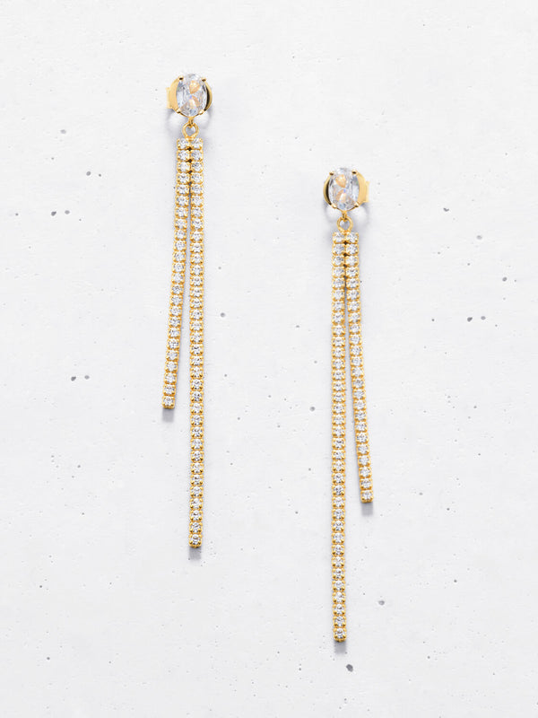 Double Row Linea Drop Earring Backs