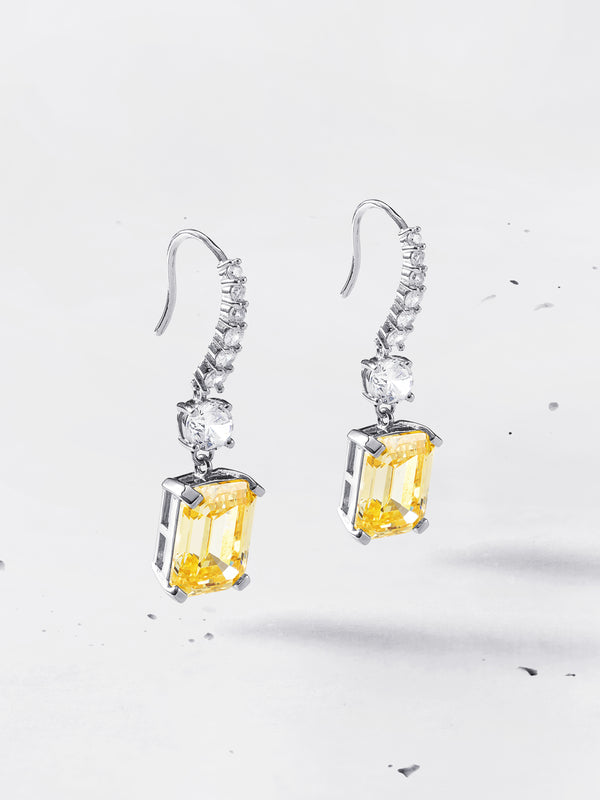 Emerald-cut Drop Earrings - Colours | HighCarbon™ | Sterling Silver