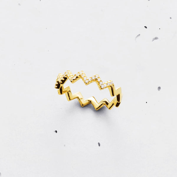 Zigzag Ring - 925 Sterling Silver