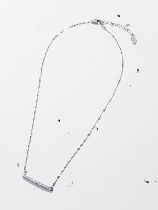 Diamante Bar Pendant Necklace