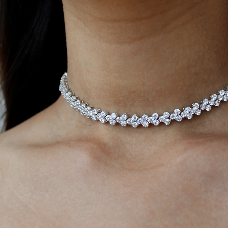 Linea 3 Stone Choker Necklace