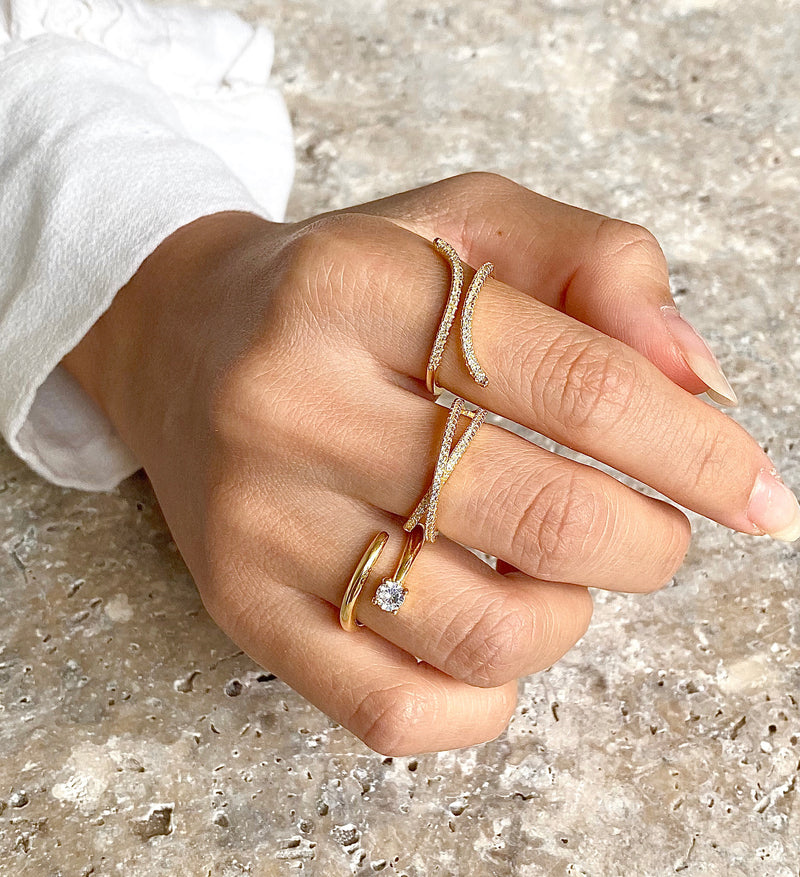 Flare Ring - 925 Sterling Silver