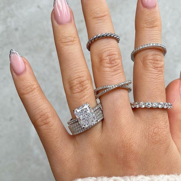 Petite X Ring - 925 Sterling Silver