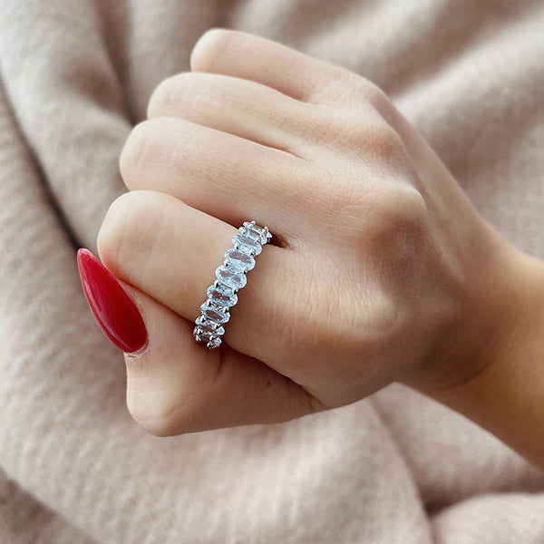Oval Cut Band (Small) - 925 Sterling Silver