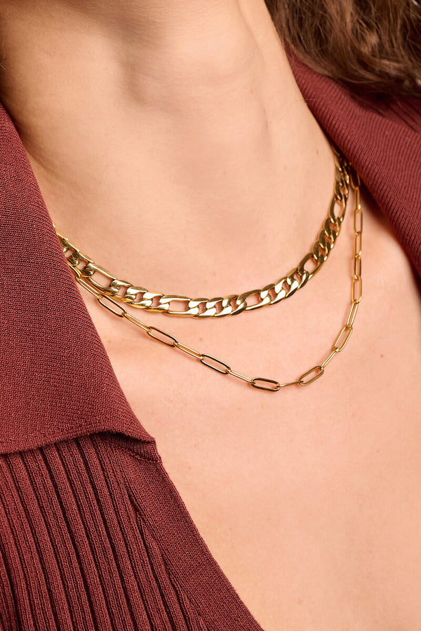 Chain Link Choker Necklace - Small