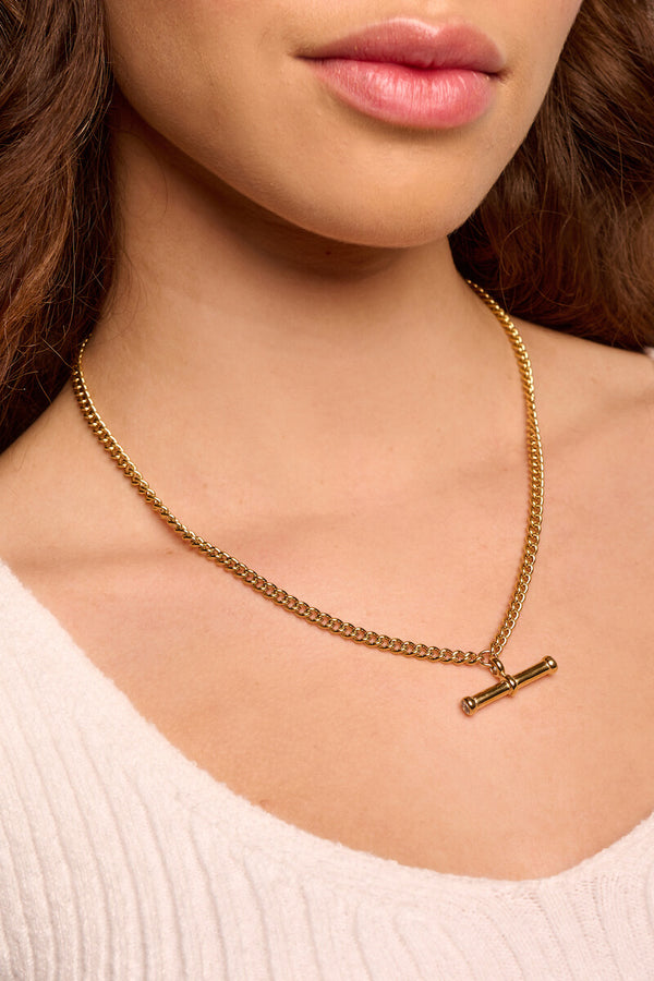 T-bar Charm Necklace