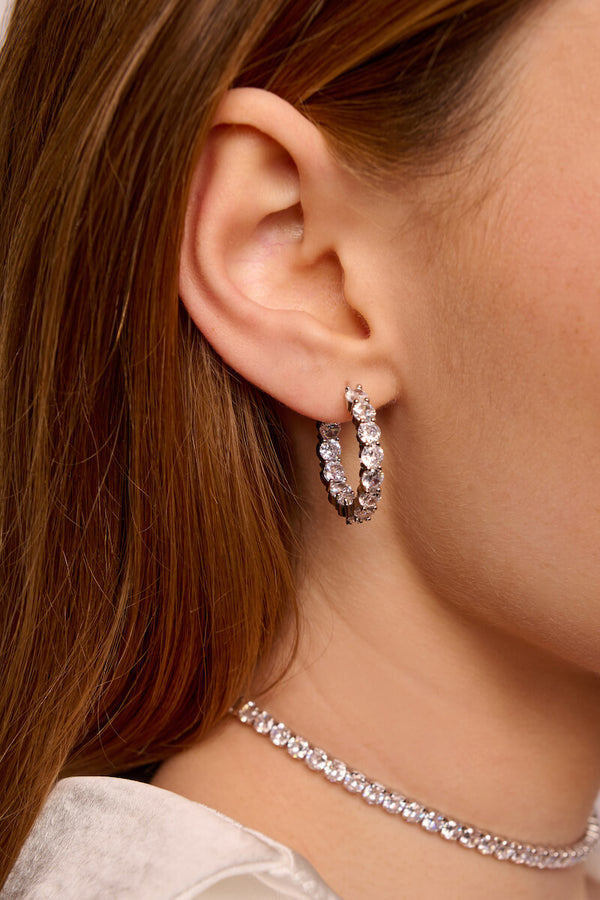 Brilliant Round Hoop Earrings