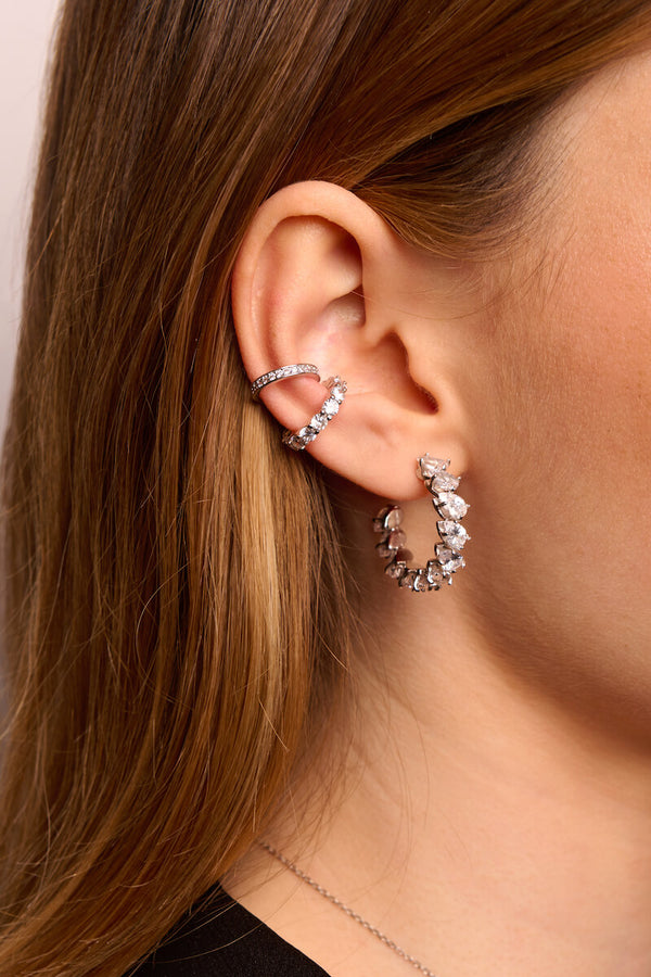 Stilla Hoop Earrings