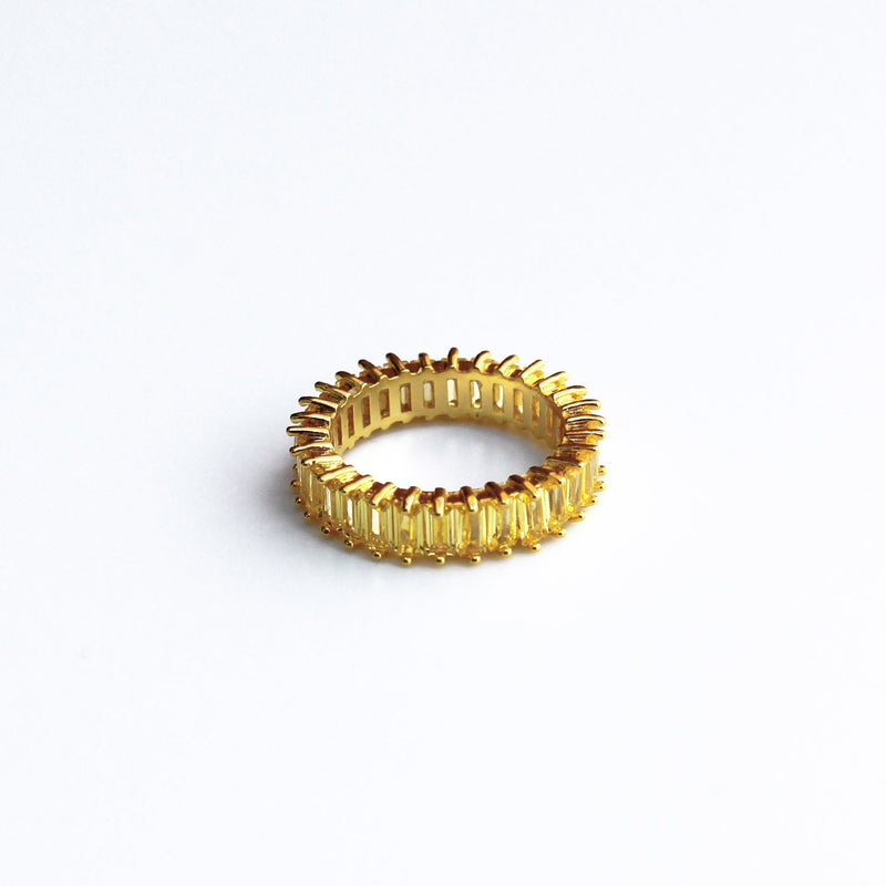 Adaya Stacking Ring-Amber Yellow-4.5-OBJEKTS STORE-Stacking Rings-Fashion Jewellery-London UK