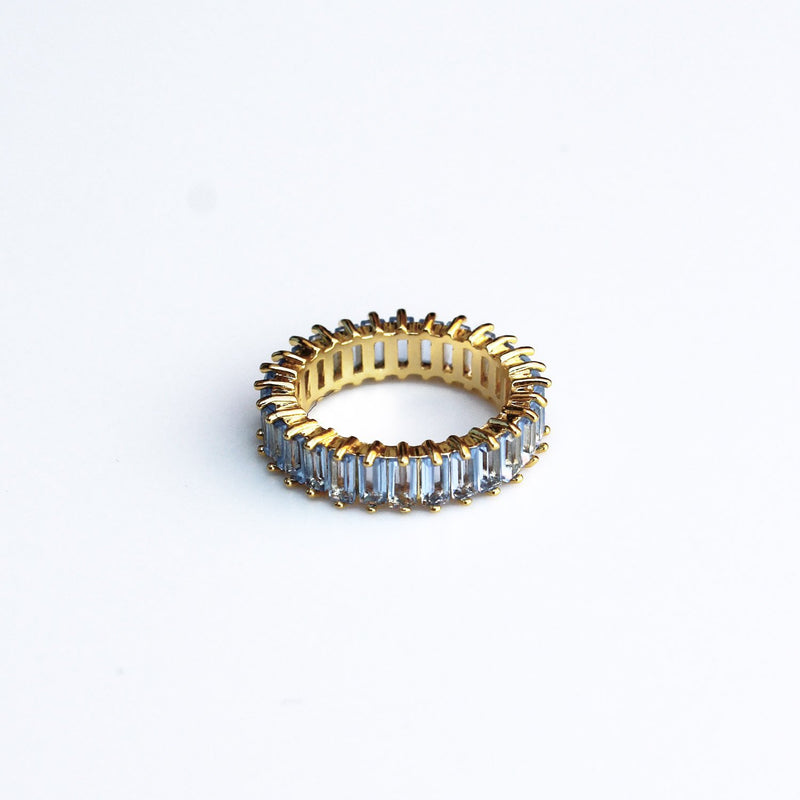 Adaya Stacking Ring-Blue-4.5-OBJEKTS STORE-Stacking Rings-Fashion Jewellery-London UK