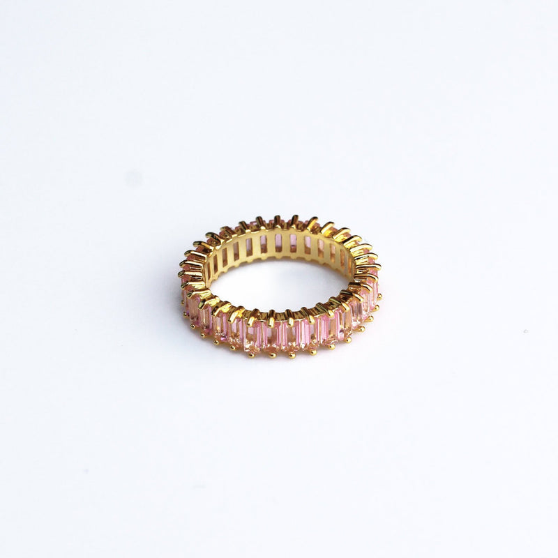 Adaya Stacking Ring-Blush Pink-4.5-OBJEKTS STORE-Stacking Rings-Fashion Jewellery-London UK
