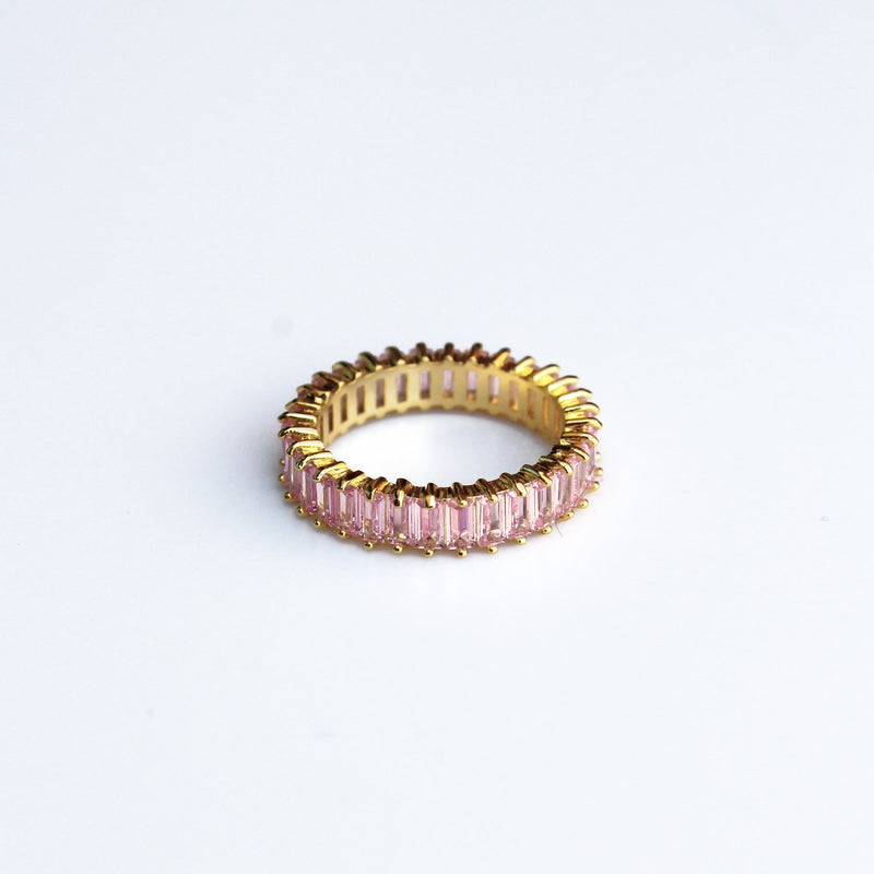 Adaya Stacking Ring-Candy Pink-4.5-OBJEKTS STORE-Stacking Rings-Fashion Jewellery-London UK