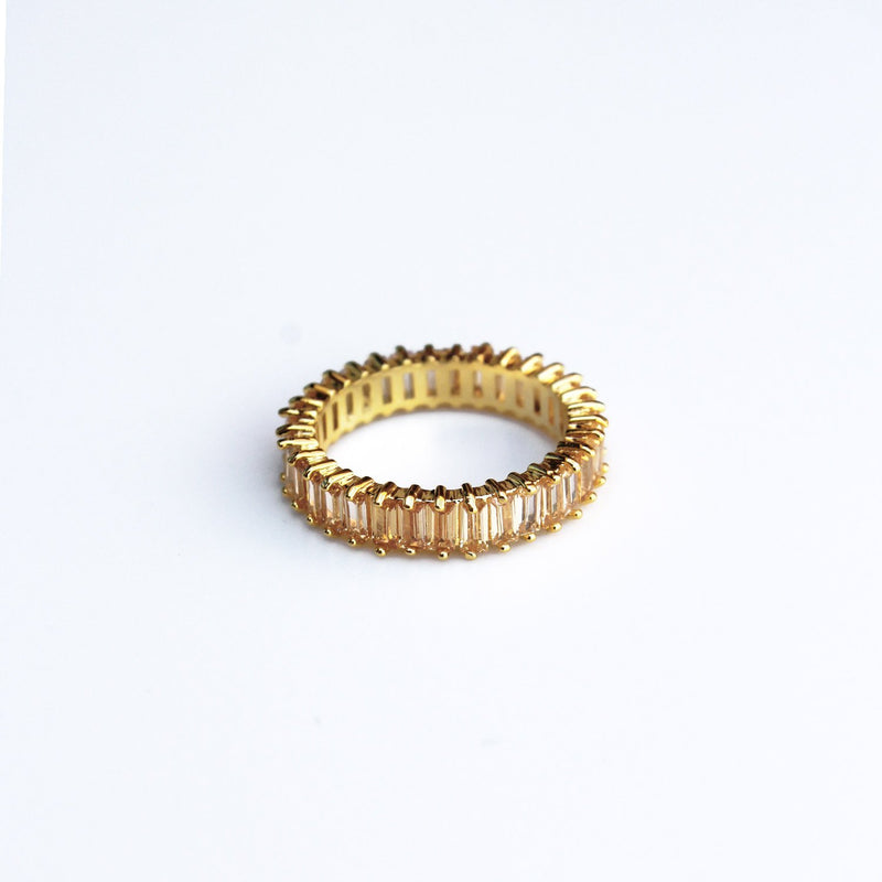 Adaya Stacking Ring-Champagne-5-OBJEKTS STORE-Stacking Rings-Fashion Jewellery-London UK