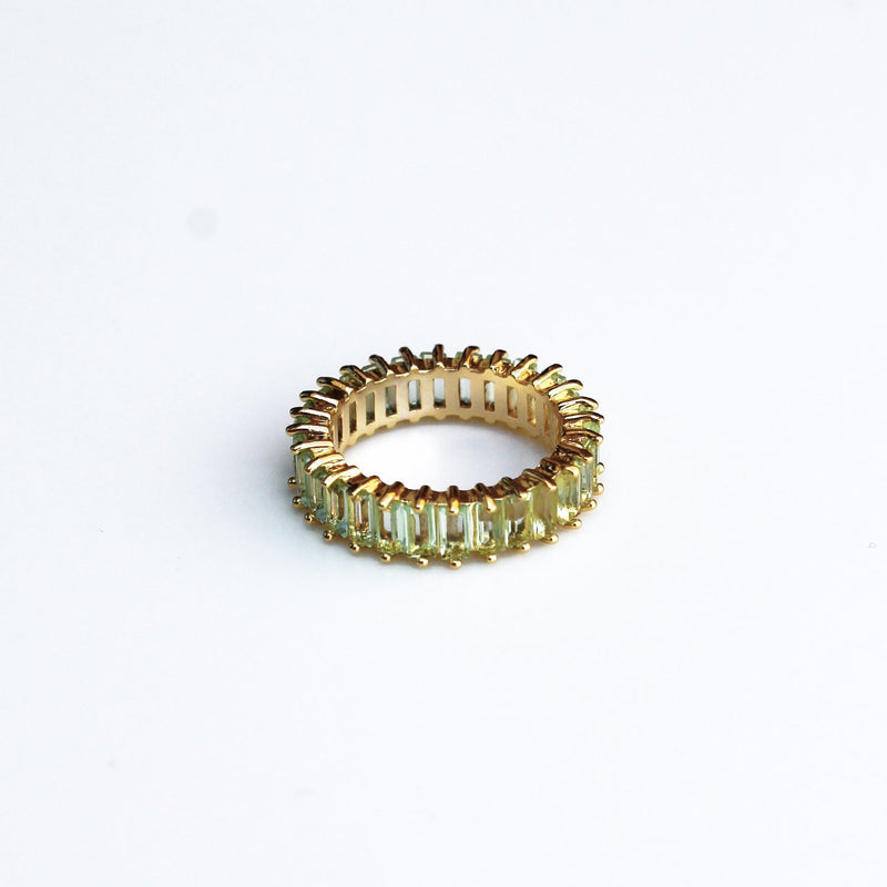Adaya Stacking Ring-Green-4.5-OBJEKTS STORE-Stacking Rings-Fashion Jewellery-London UK