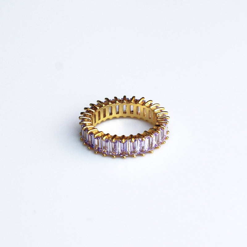 Adaya Stacking Ring-Lavender Purple-4.5-OBJEKTS STORE-Stacking Rings-Fashion Jewellery-London UK