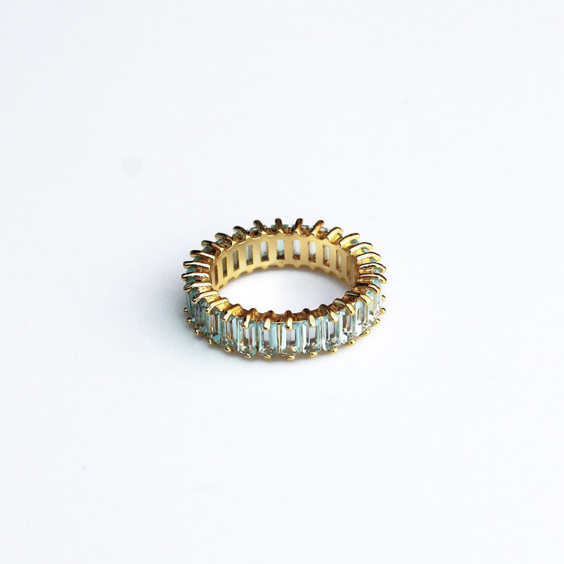 Adaya Stacking Ring-Light Blue-4.5-OBJEKTS STORE-Stacking Rings-Fashion Jewellery-London UK