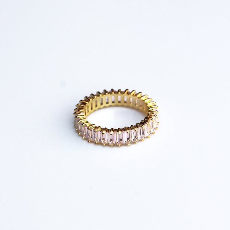 Adaya Stacking Ring-Light Pink-4.5-OBJEKTS STORE-Stacking Rings-Fashion Jewellery-London UK