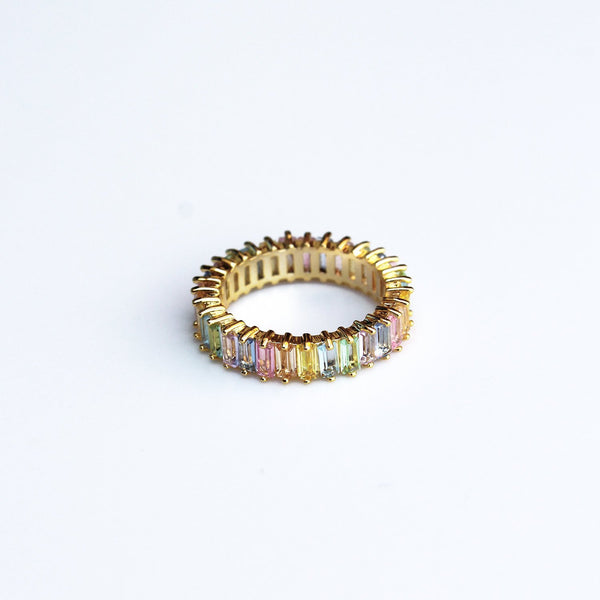 Adaya Stacking Ring-Pastel Rainbow-5-OBJEKTS STORE-Stacking Rings-Fashion Jewellery-London UK