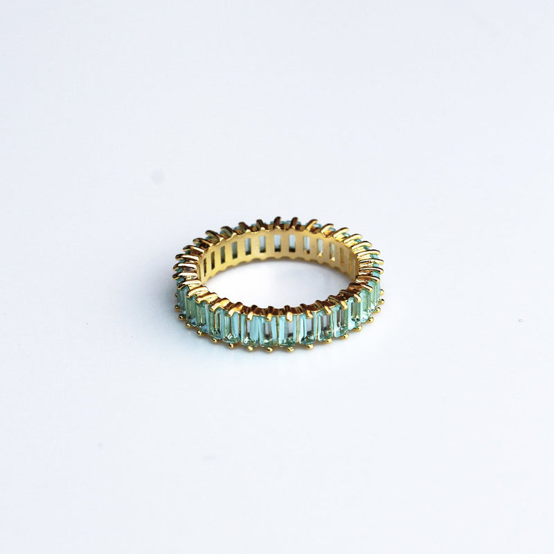 Adaya Stacking Ring-Turquoise-4.5-OBJEKTS STORE-Stacking Rings-Fashion Jewellery-London UK