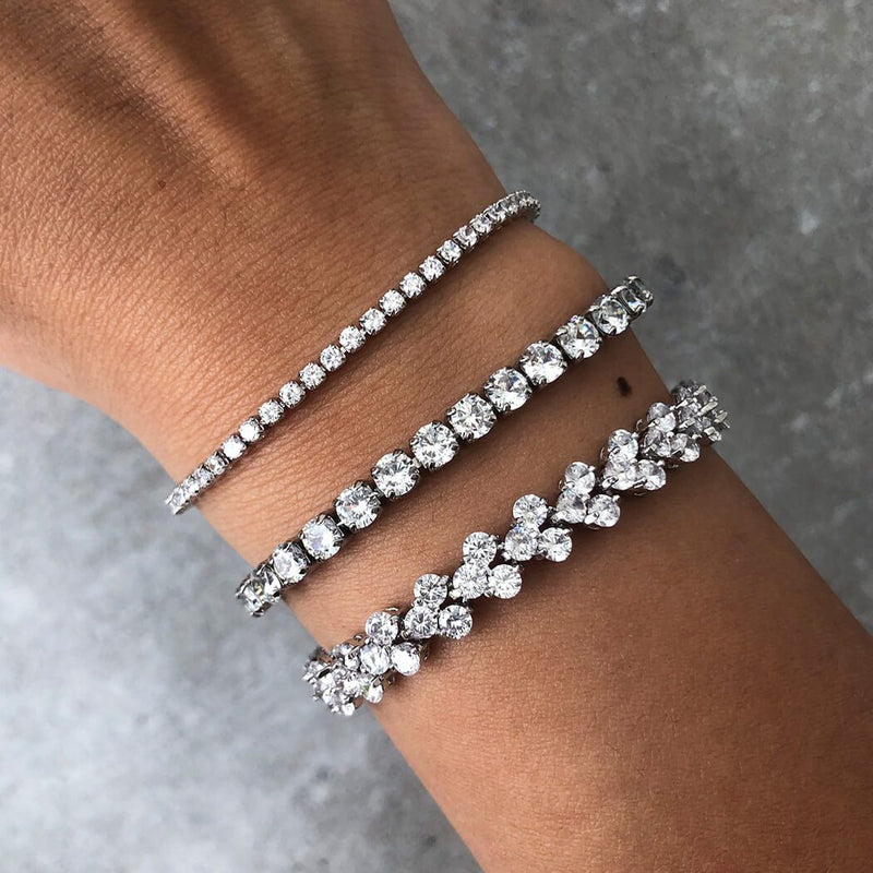 Linea 3 Stone Tennis Bracelet (6mm)-OBJEKTS STORE-Statement Fashion Jewellery-London UK